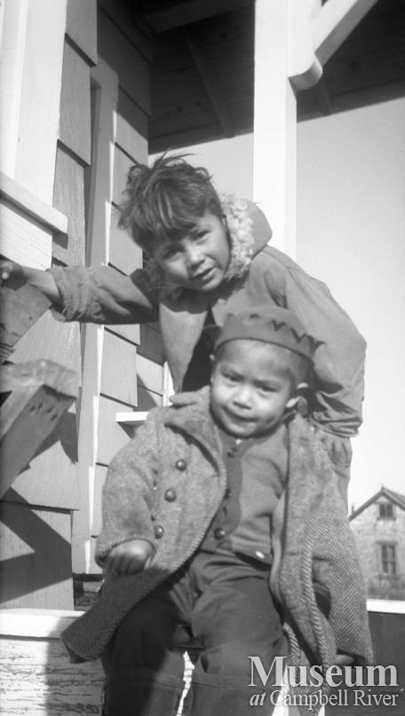Two unidentified young boys