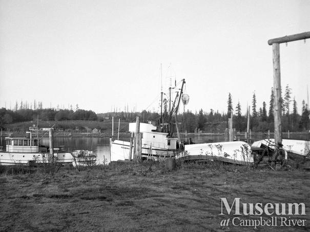 Boats tied up on the Tyee Spit