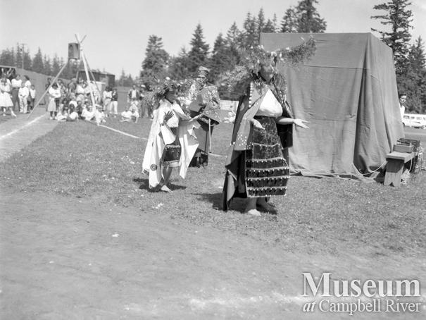 First Nations people in ceremonial dress, July 1st