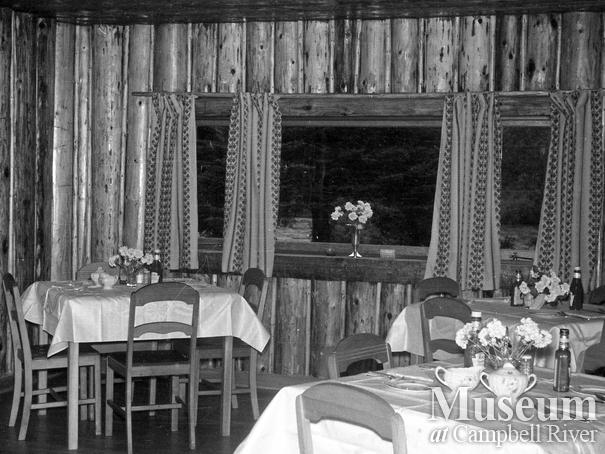 Interior view of the dining room at Campbell River Lodge