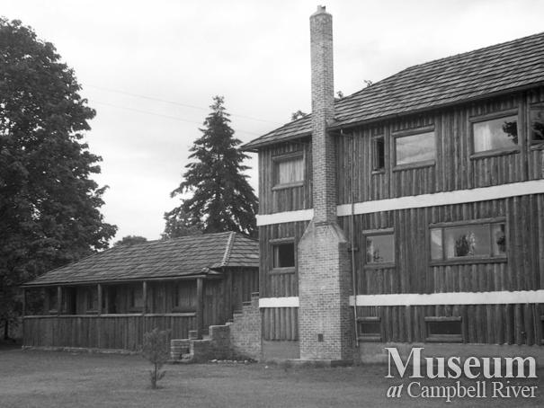 View of Campbell River Lodge and cabin from the river side