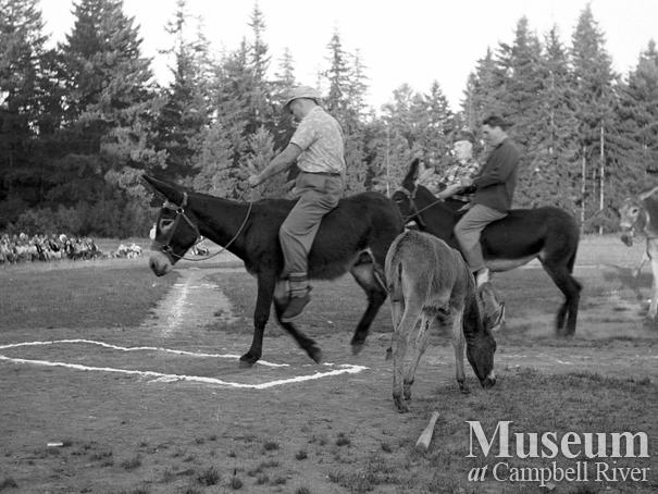 Donkey Baseball held at Lane Field, Campbell River
