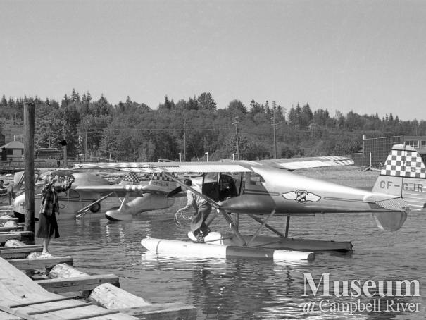 B.C. Airlines plane at Willows Hotel dock
