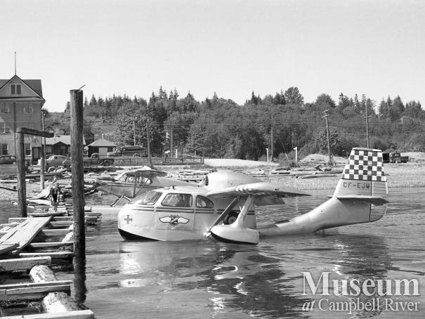 B.C. Airlines plane approaching Willows Hotel dock