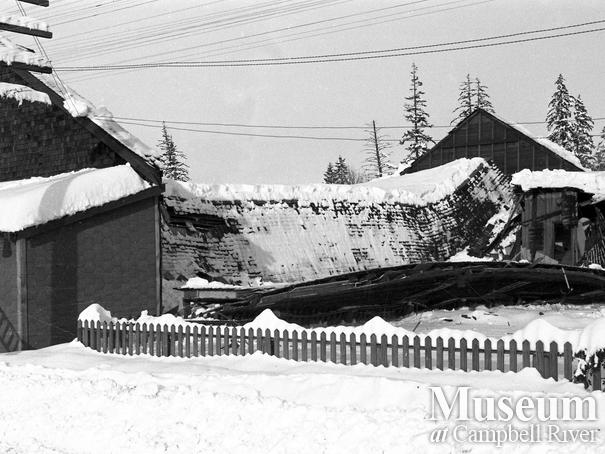 Collapse of Community Hall during heavy snowfall