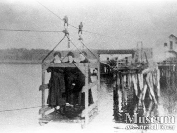 Campbell River's first wharf damaged by storm in 1918
