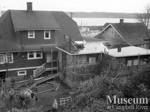 View behind the Police Station, Campbell River