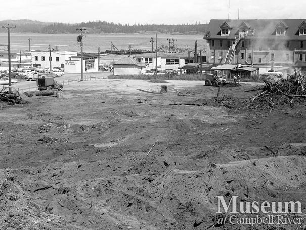 Construction of the Campbell River Plaza