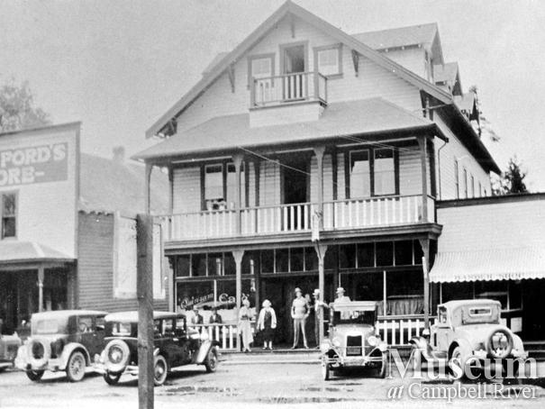 The Quinsam Hotel and Crawford's General Store