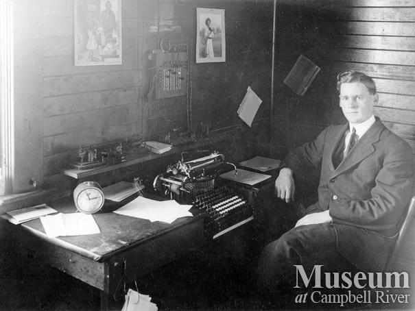 Walter Edward Spencer, Telegraph Agent at Campbell River Office