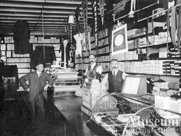 Interior of Campbell River Trading Co. store, Campbell River