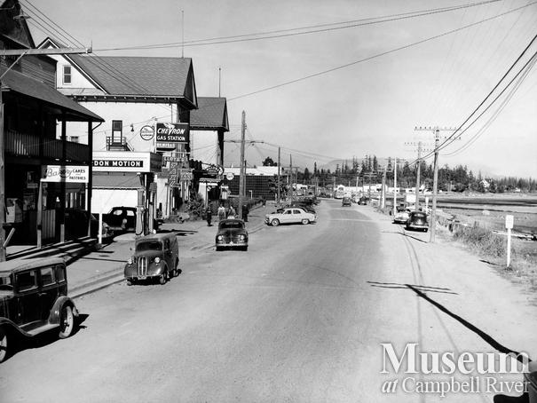 Island Highway through downtown Campbell River