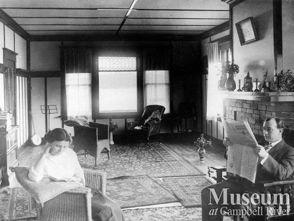 Dr. Howard Jamieson and his wife in their home, Campbell River