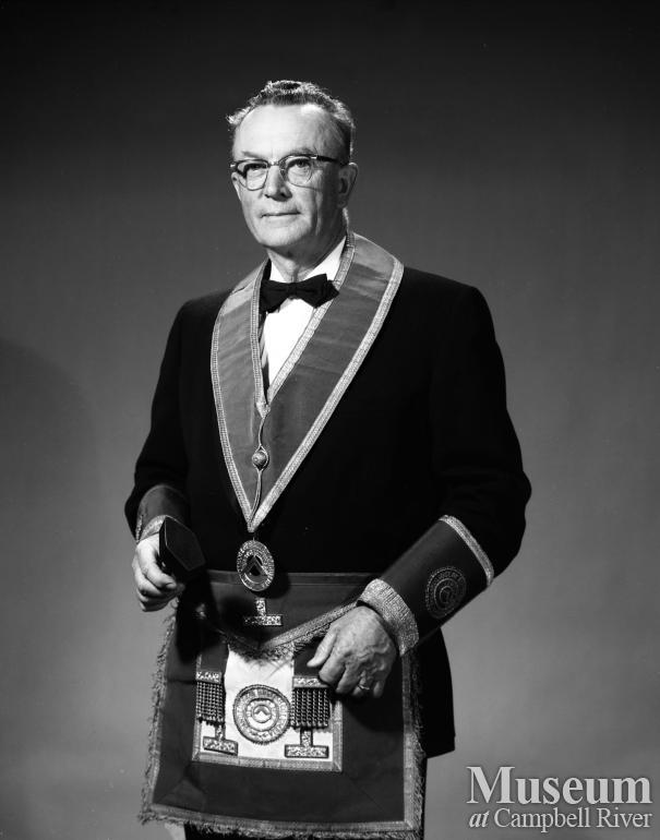 Portrait of Wallace Baikie in his Masonic Lodge Uniform