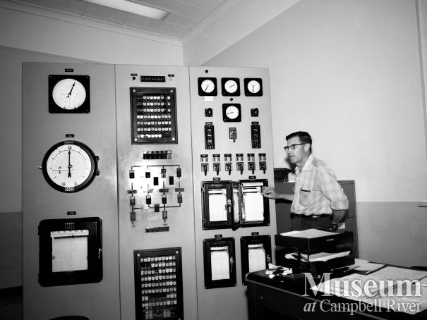 Control panel at BC Hydro's John Hart Generating Station