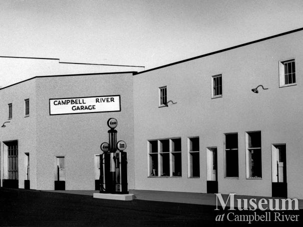 View of Campbell River Garage in 1949