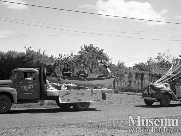 Campbell River July 1st Parade, 1949