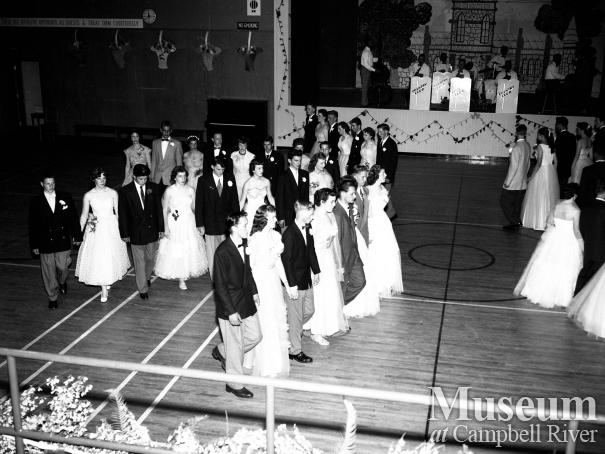 Campbell River Senior High Graduation Dance, 1955