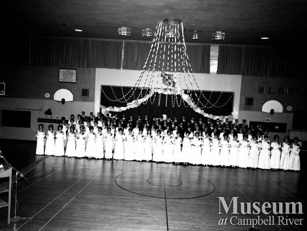 Campbell River Senior High Graduating class, 1955