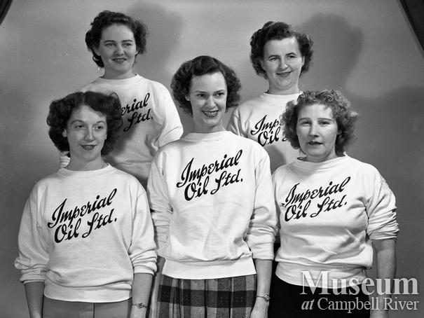 Members of the Imperial Oil Ladies 5 Pin Bowling Team