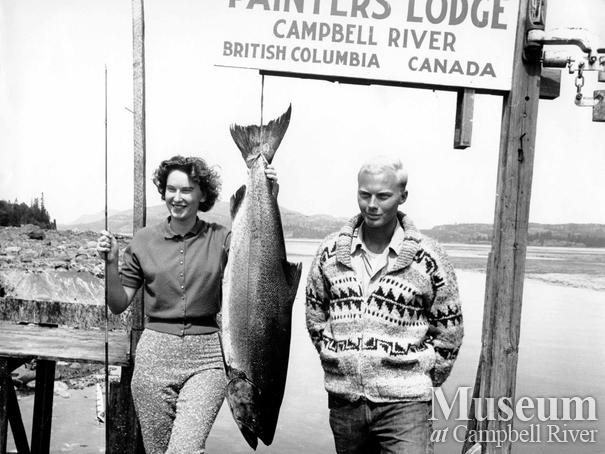 Georgia Maclean with her catch and guide Jim Sears