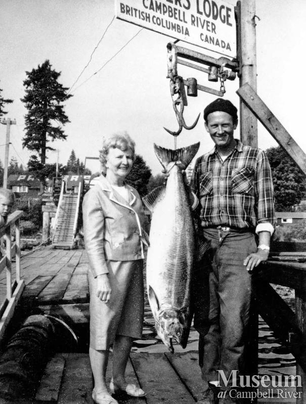 Mrs. K.E. Masly with catch