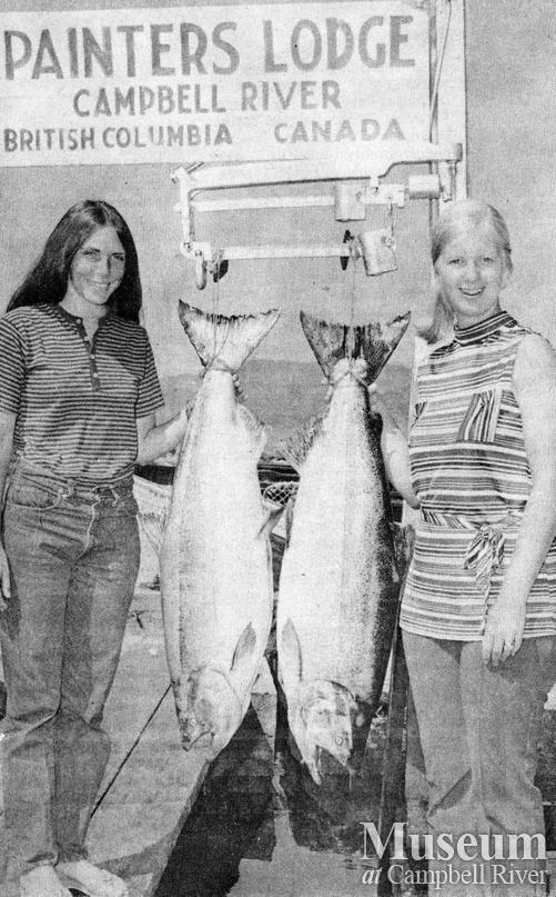 L. Barker and L. Bertram with their catches