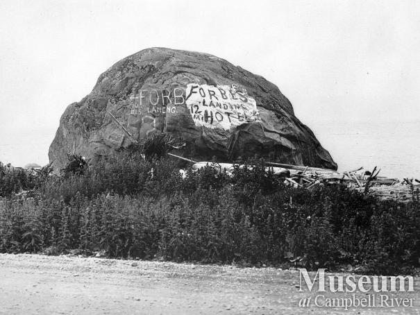The 'Big Rock' near Campbell River