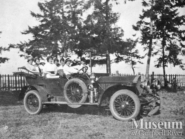 Automobile, possibly at the Thulin's Home