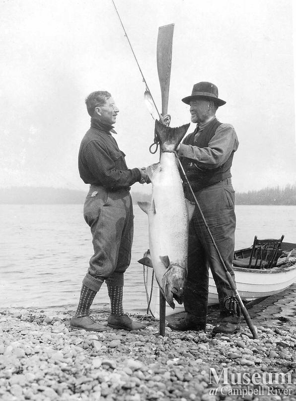 Dr. Wiborn and William E. Humphrey with catch