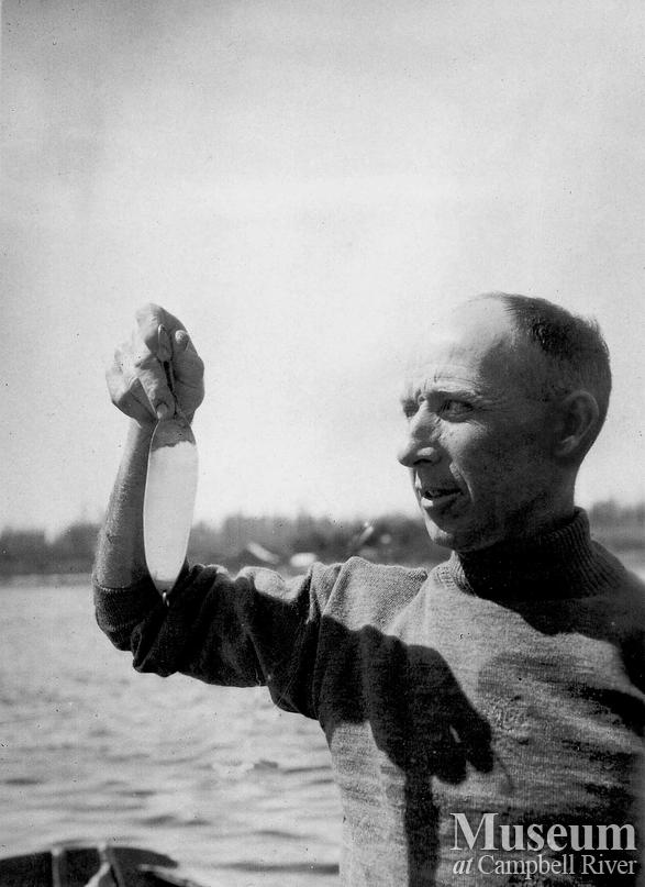 Herbert Pidcock with fishing lure