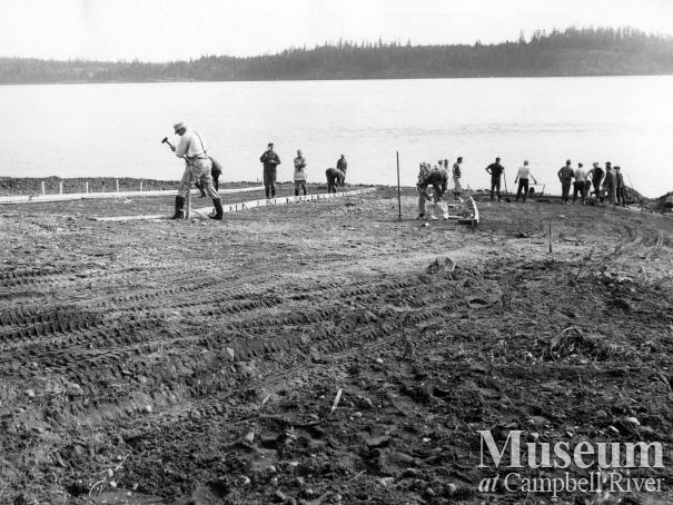 Building the public boat ramp at Tyee Spit.