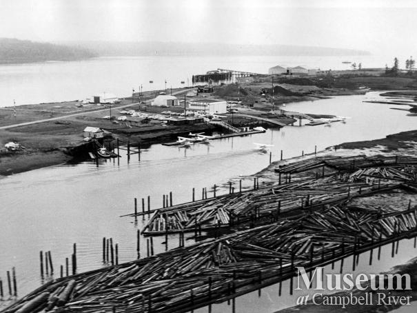 View of the Tyee Spit, 1968.