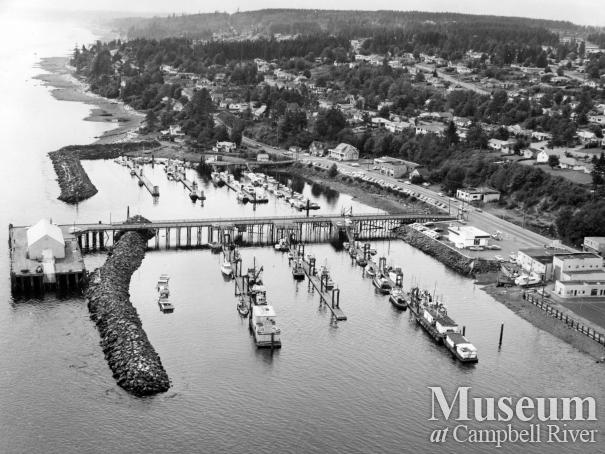The Campbell River wharf