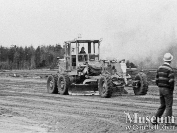 Buidling the runway at the Campbell River Airport