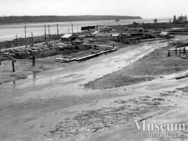 View of Tyee Spit at low tide