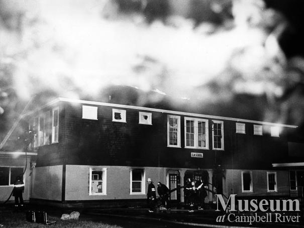 Elm Street school fire, July 1972