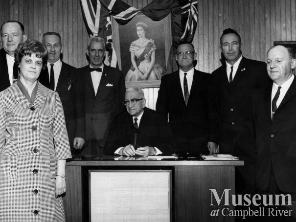 Members of the Campbell River Village Council, 1965