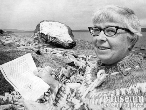 Ruth Barnett by the Big Rock