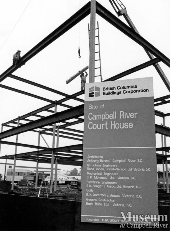 Construction of the Campbell River Court House