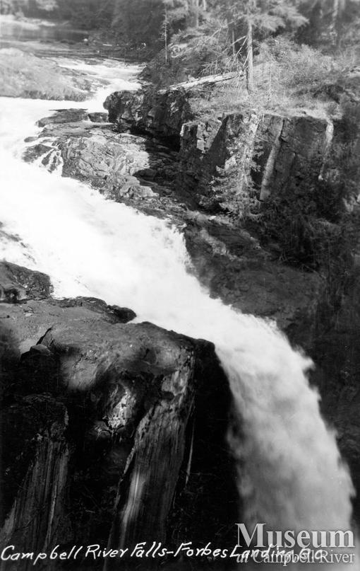 View of Campbell River Falls (Elk Falls)
