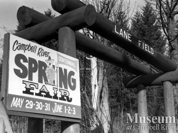 Sign at entrance to Lane Field, Campbell River Park
