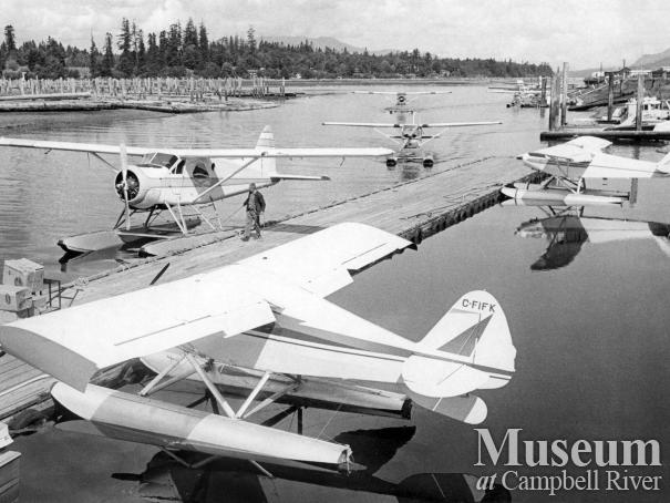 Planes arrive at Tyee Spit sea base