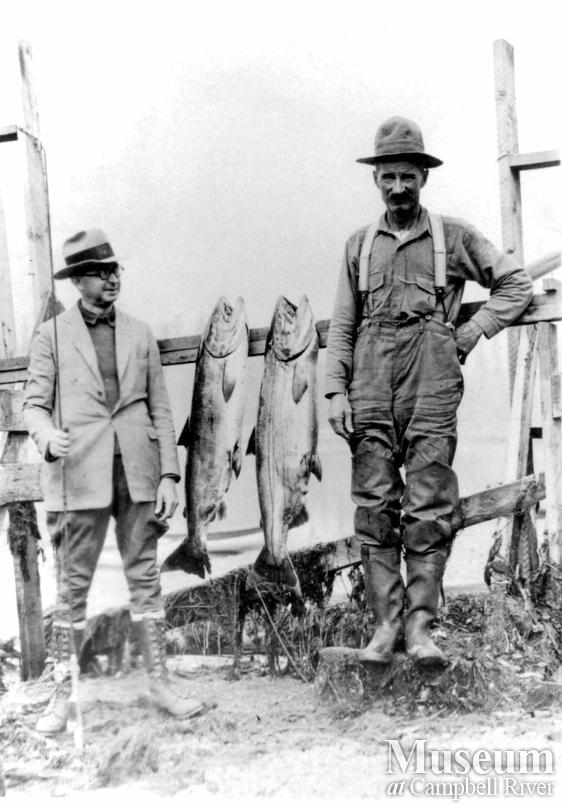 Unidentified sportfisherman with catch
