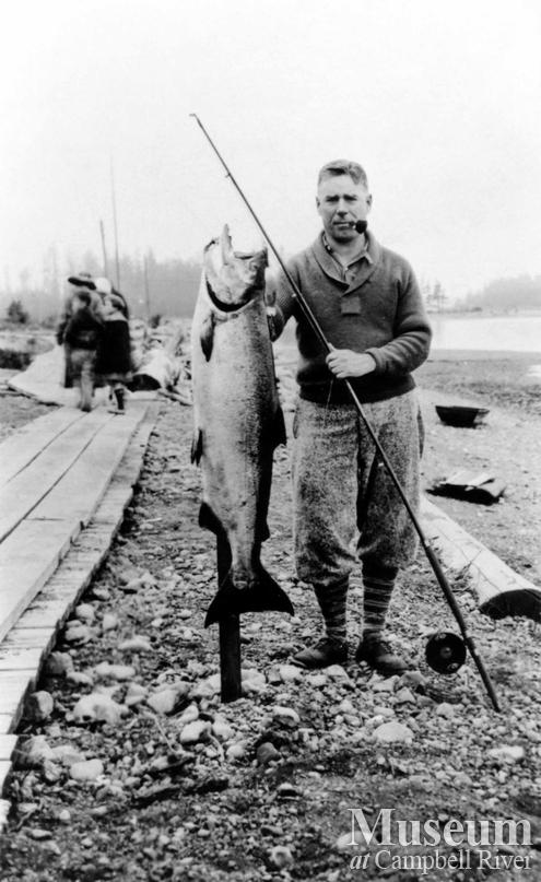 Unidentified angler with catch