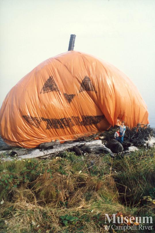 Big Rock 'dressed up' as a Pumpkin, 1986