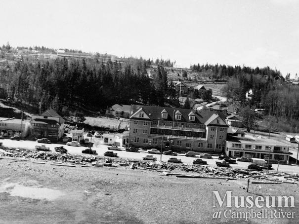 Aerial view of Campbell River waterfront