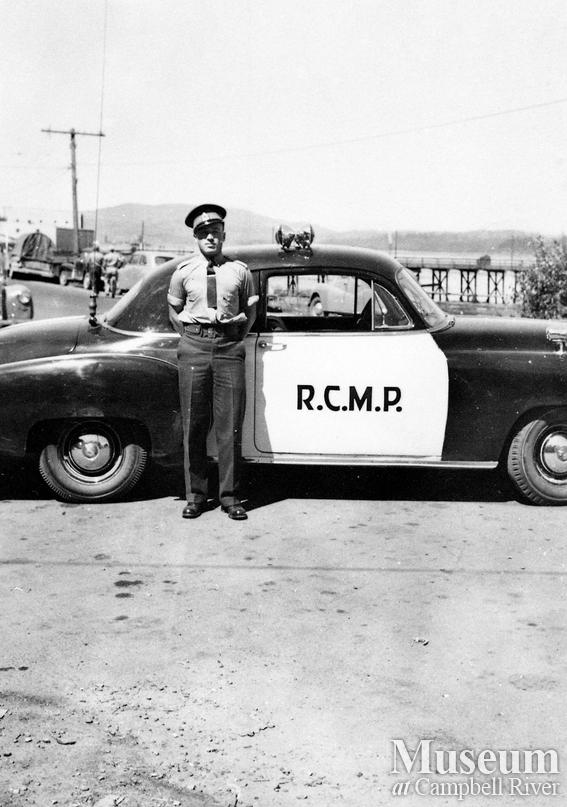 Campbell River RCMP Officer Al Weishlow and police car