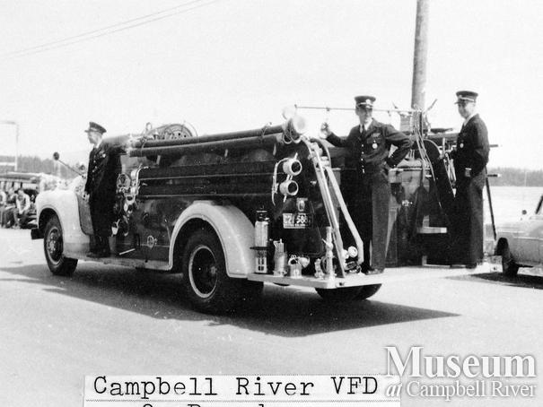 Campbell River Volunteer Fire Department in parade