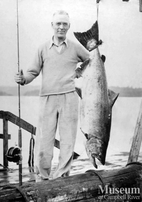 Dr. R.P. Kinsman with catch